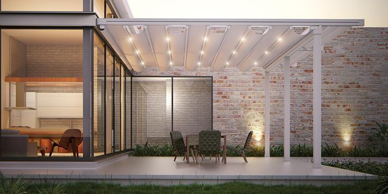 Pergola s pohyblivou střechou FLAT | Sunsystem