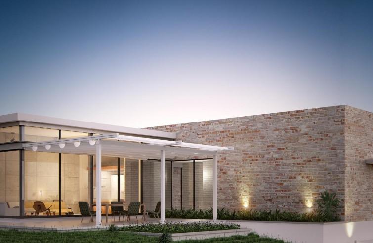 Moderní pergoly s pohyblivou střechou FLAT