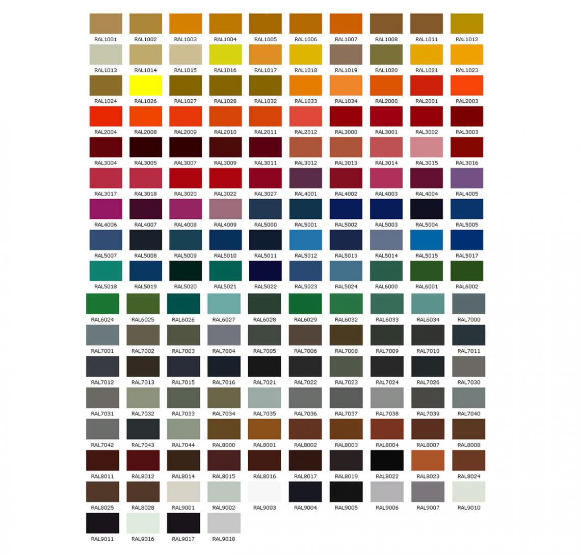 Základní barvy konstrukce pergol Placeo