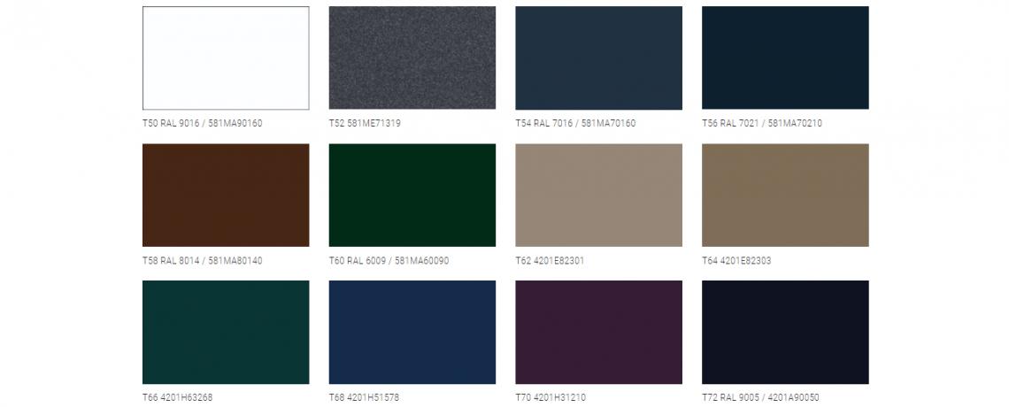 Vzorník barev prosklené pergoly