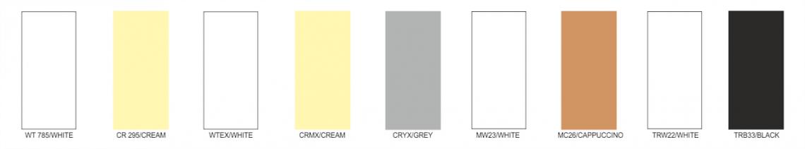 Barvy látek posuvného zastřešení FLAT
