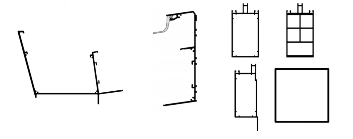 Detail profilů zimní zahrady