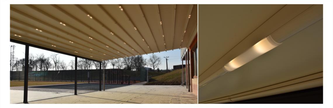 Integrované LED osvětlení do pergol s pohyblivou střechou