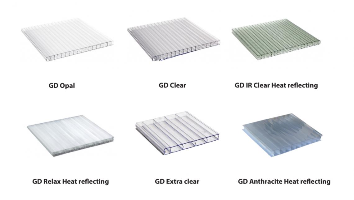 Typy polykarbonátové střechy pergoly Superior