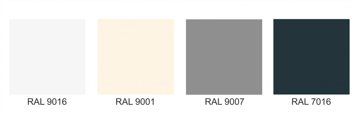 Základní barvy hliníkové konstrukce pergol