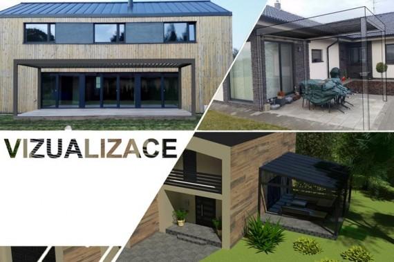 3D vizualizace pergol a plotů