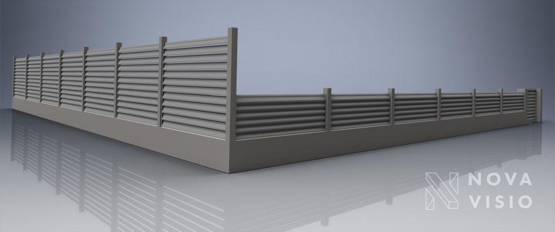 Vizualizace hliníkového plotu na zahradu