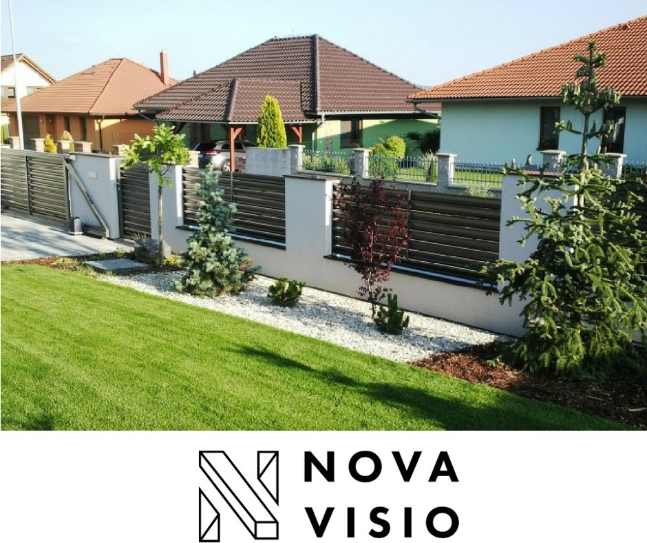 Moderní hliníkové ploty od Novavisio
