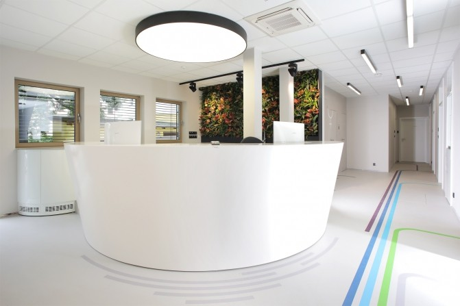 Interiér soukromé zubní kliniky   Sunsystem