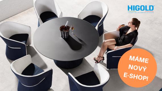 Nový e-shop s luxusním venkovním nábytkem značky HIGOLD - pokochejte se