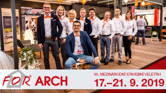 Zastavte se za námi na FOR ARCH 2019 v Praze - máme pro vás vstupenky ZDARMA